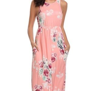 Lily Rose Floral Maxi Dress w/ Pockets